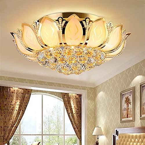 Crystal stone Lampadario a soffitto, Plafoniera Moderna Fiore di Loto con Lampada da soffitto in Vetro Lampada da soffitto per Soggiorno Camera da Letto