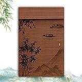 HAIPENG-Persianas Estores De Bambú Enrollable Ventanas Enrollar Cortina Persianas Ventana Sombras por Sala Comedor Armario Sombrilla Personalizable (Color : A, Size : 100X180CM)
