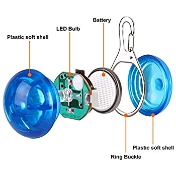 Top Munster Lot de 2 lumières LED de sécurité étanches pour collier de chien/chat/autre animal de compagnie