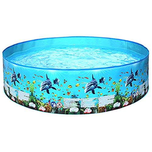 HJKPM Piscina Inflable para Niños, PVC Inflable Piscina Redonda Dolphin Piscina Al Aire Libre,152 * 25cm
