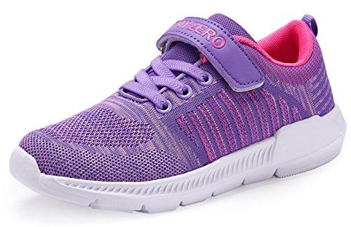 JSLEAP Kinder Tennisschuhe Jungen Mädchen Sneakers Leichte Low-Top Laufschuhe für Kleinkind/Little Kid/Big Kid, Lila, 32 EU