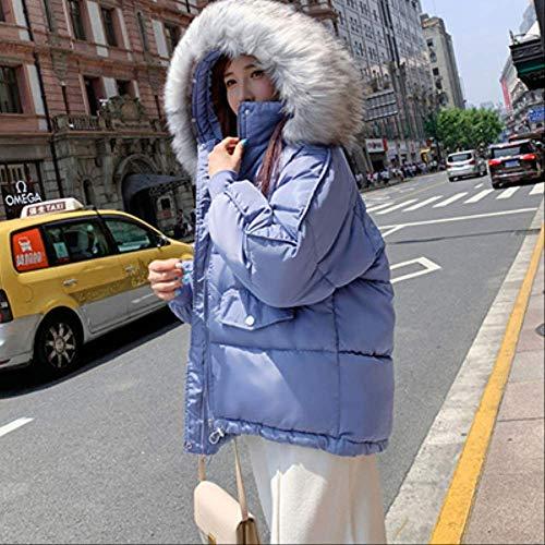 KOUPNLTM Manteau en Duvet À Capuche Décontracté pour Femmes Hiver Chaud Parka Manteaux Veste Doudoune Vogue XL Bleu