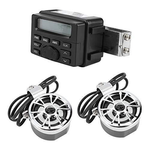EBTOOLS Motorrad Wasserdichte Audio Stereo Lautsprecher FM Transmitter Radio Stereo Lautsprecher MP3 Player