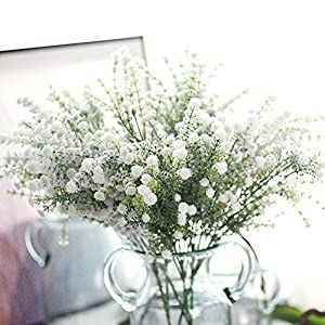 hgs76dh Artificial Gypsophila Floral Flower Silk Fake Real Touch Baby Breath Flowers Home Decoration Wedding Bouquet Party Bouquet Decor