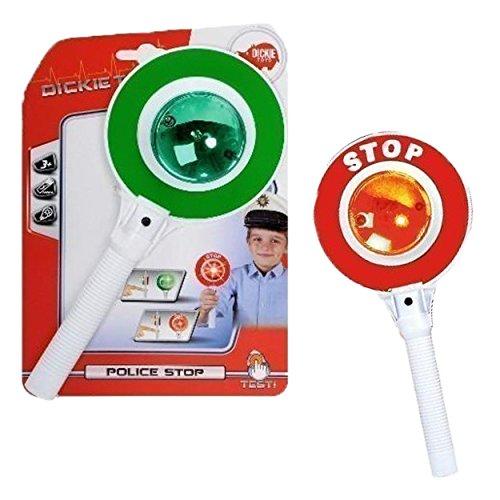 Dickie Toys 203342000 - Police Stop, Polizeikelle mit Lichtfunktion, 25 cm