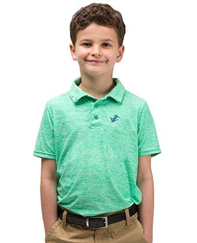 Jolt Gear Youth Boys Golf Dri Fit Polo Shirt, Breathable Performance Fit, Green