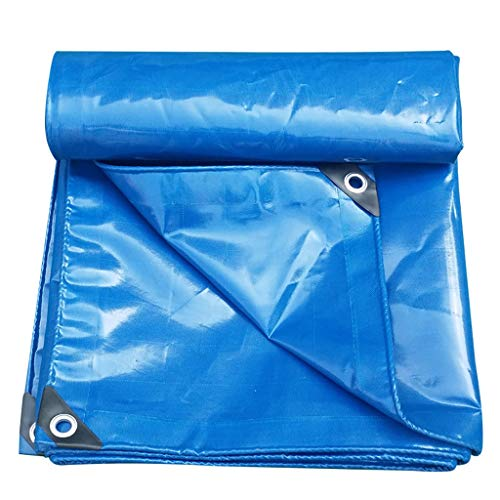 Tarpaulin Bâche imperméable Bleue de PVC, Grandes bâches résistantes, Toile de Parasol avec boutonnière, bâche avec Oeillets et Bords renforcés dans des Tailles Multiples (Taille : 3 * 3m)