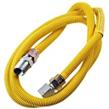 Supplying Demand 203-3132 Dryer Gas Hose With Fittings Compatible With 1/2' MIP x 1/2' FIP Hose Connections (5 Feet)