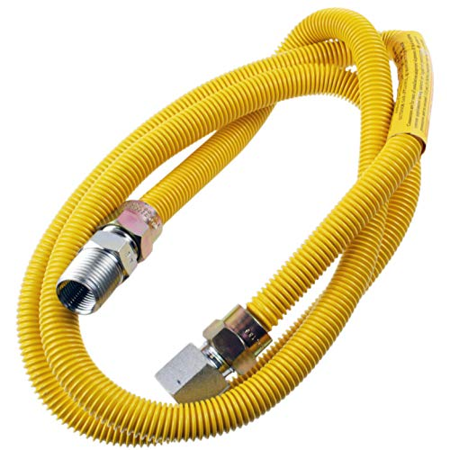 "Supplying Demand 203-3132 Dryer Gas Hose With Fittings Compatible With 1/2"" MIP x 1/2"" FIP Hose Connections (5 Feet)"