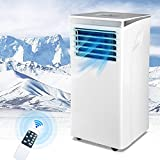 ARTETHYS 10000 BTU Portable Air Conditioner with Remote Control, LED Touch Screen, Personal Air Cooler, Dehumidifier, 4 Wheels, 2 Fan Speed, 24H Timer, Portable ac for Bedroom, Office