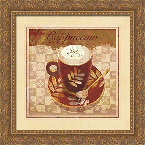 Maron, Linda 20x20 Gold Ornate Framed Canvas Art Print Titled: Cappuccino