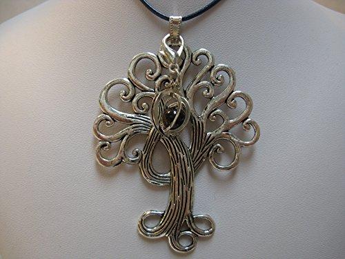 Natural mente – Pendentif Arbre de Vie, la pierre + 1 Chakra, pendentif pour collier, amulette, arbre de vie, bande plastique incluse, pierres précieuses, n ° 183