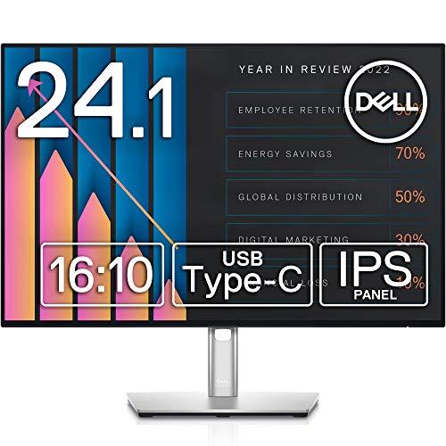 "Dell USB-C Hub Monitor 24.1"" U2421E (3 Year Lifetime Replacement Warranty/Frameless/USB-C/LAN Port (RJ45)/WUXGA/IPS Non-Gloss/USB-C,DP,HDMI/Height Adjustment/Rotation/Dock Function)"