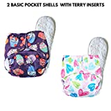 superbottoms Basic Certified Soft Fleece Lined Adjustable Pocket Diapers with 2 Wet-Free Inserts