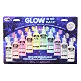 Tulip Glow in The Dark Dimensional Fabric Paint, 0.75 FL OZ 10 Pack, Permanent, Washable