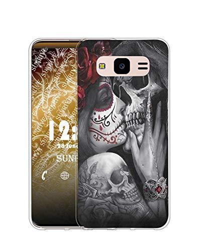 Sunrive Cover Compatibile con Samsung Galaxy Core Prime, Custodia Case in Molle Trasparente Silicone Morbida Flessibile AntiGraffio Protettiva Back custodie(Q Ragazza 2)