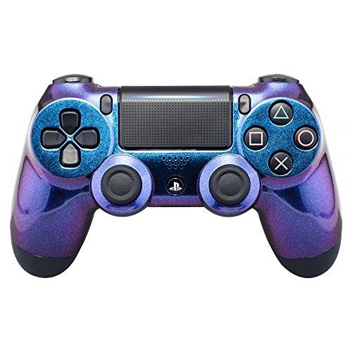 eXtremeRate PS4 Controller Schutzhülle Case Obere Hülle Cover Oberschale Gehäuse Schale Skin Shell für Playstation 4 PS4 Slim PS4 Pro Controller JDM-040 JDM-050 JDM-055(Lila Blau)