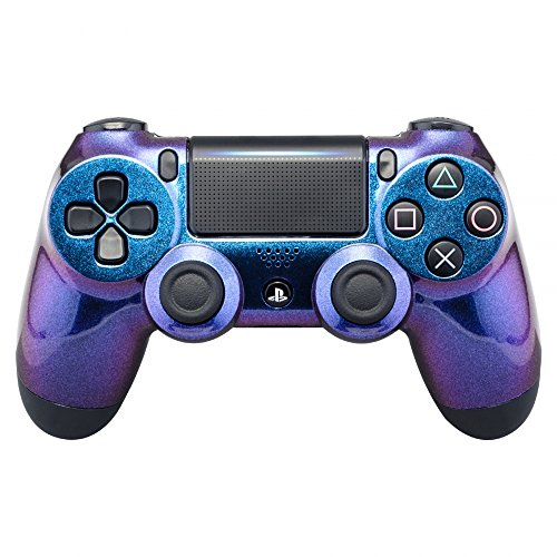 eXtremeRate Purple and Blue Chameleon Front Housing Shell Faceplate for Playstation 4 PS4 Slim PS4...