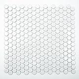 piedra natural mosaico azulejos Blanco flusskiesel pared suelo ducha inodoro Cocina es de 47628//_ F Art 10/alfombrillas