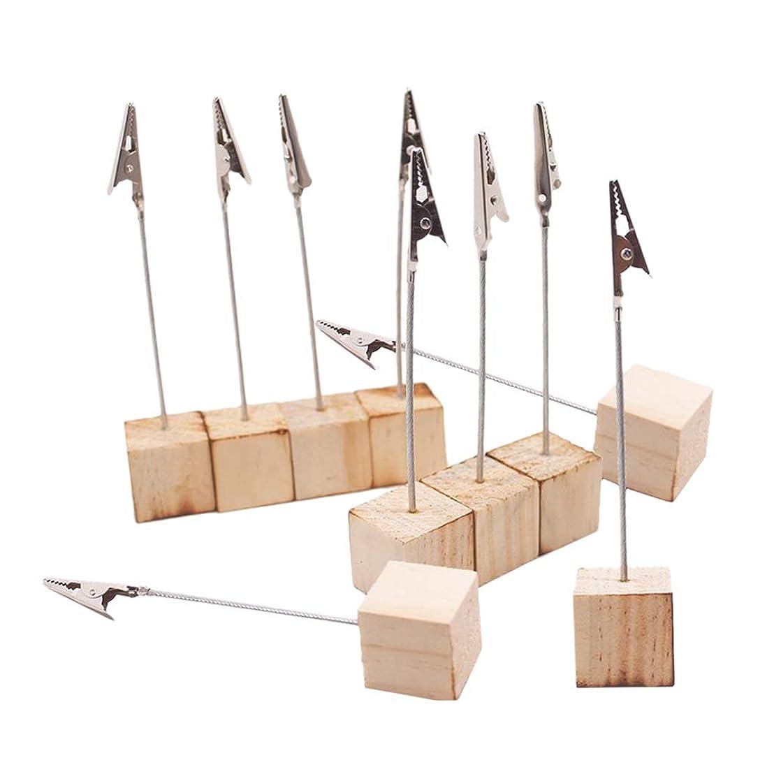風景工夫するコーチGeneric 結婚式、写真表示家棒装飾のための10ピース/個木の名刺クリップ