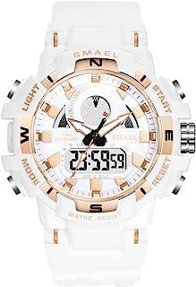 Women's Sports Digital Watch, Waterproof White Analog Wrist Watches for Women (White)