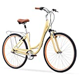 sixthreezero Body Ease Women's 3-Speed Comfort Bike W/ Rear Rack, 26' Wheels/17' Frame, Cream,...