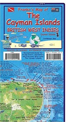 Cayman Islands Dive Map / Mini Cayman Fish Card
