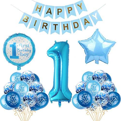 Globo de decoración para cumpleaños infantil, para niños de 1 año, decoración para el primer cumpleaños, decoración para el primer cumpleaños