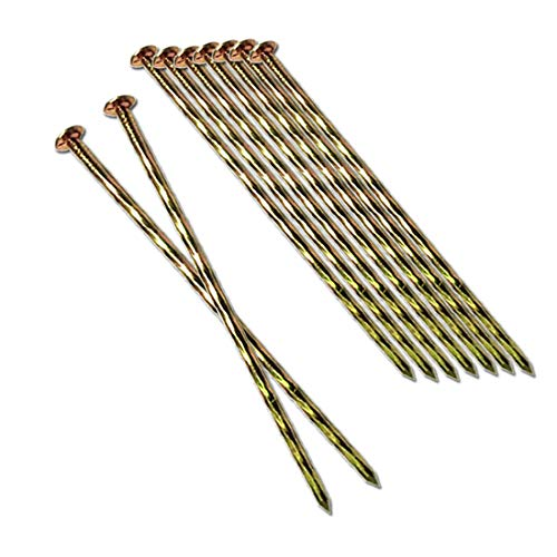 MAOMBO Metal Turf Nails 200 Pcs 6-Inch Landscape Stakes, Spiral Galvanized Landscape Spikes, Garden Nails for Artificial Turf, Paver Edging, Weed Barrier, Lawn Edging,Carpentry and More