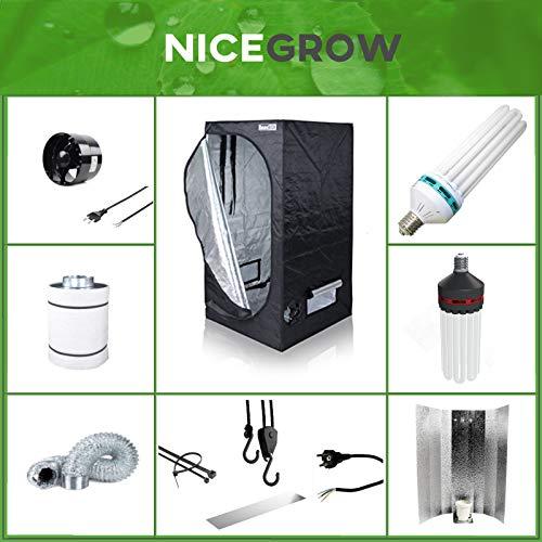 Growset Komplettset Dark Box 60 ESL 150W Wuchs und Blüte inkl. Abluft und Aktivkohlefilter