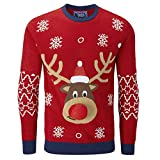 charles wilson maglione natalizio originale (medium, red reindeer 3d (1019))