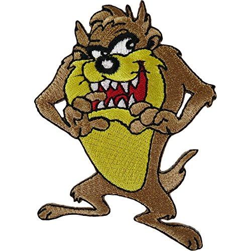 Aufnäher, Motiv: Taz der Tasmanische Teufel, zum Aufnähen auf Kleidung, Tasche, Cartoon, bestickt