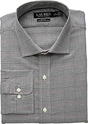 LAUREN RALPH LAUREN Men's Classic Fit Non Iron Stretch Twill Dress Shirt