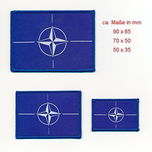 3er Set Nato Nord-Atlantik-Bündnis Flaggen Flags Patch Aufbügler Aufnäher 0728