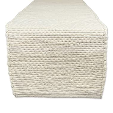 DII Cotton Everyday Machine Washable Chindi Rag Table Runner, 14 X 72 , Natural