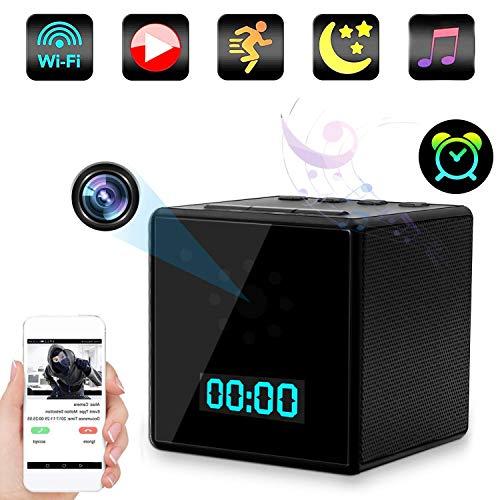 TTCDBF Wireless Hidden Camera 1080P WiFi HD Spy Cam Bluetooth Speaker camera alarm clock camera night vision motion detection remote view Nanny cam