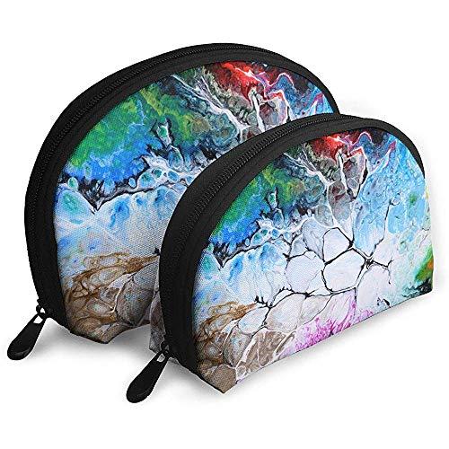 Abstrakte Kunst Tragbare Taschen Kosmetiktasche Kulturbeutel, Tragbare Multifunktionsreisetaschen Kleine Kosmetiktasche mit Reißverschluss