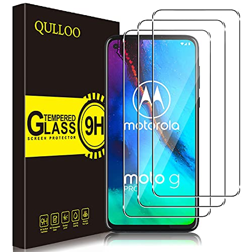 QULLOO Panzerglas für Moto G Pro/Moto G8 Power, 9H Hartglas Schutzfolie HD Bildschirmschutzfolie Anti-Kratzen Panzerglasfolie Handy Glas Folie für Motorola G Pro/Moto G8 Power