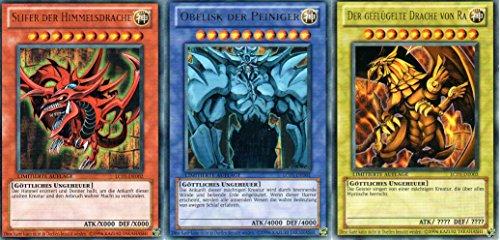 Götterkarten - Obelisk, Slifer, Ra - SET LC01-DE001 bis LC01-DE003 Ultra Rare DE NM YU-GI-OH!