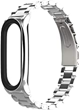 Compatible With Xiaomi Mi Band 4/Suitable for Xiaomi Band 3 Smart Watch Bracelet Wristband/Replacement Strap/Metal Stainle...
