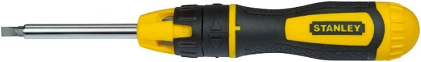 Stanley 29704378 śrubokręt z 20 bitami i grzechotką, czarny/żółty, zestaw 22 sztuk
