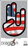 THE SHOCKER HAND - Wandtattoo / Wandaufkleber/ Aufkleber - schwarzer Umriss mit Fahne / Flagge - Liberia-Liberia 70 cm