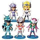 FJKYF Modelo De Anime5 Unids/Set Figuras De Acción Caballeros del Zodiaco Muñeca Janpaness Anime Dibujos Animados Juguetes Niños 10 Cm