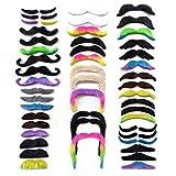 WJUAN 48 Pièces Nouveauté Fausses Moustaches à Papier Collant Auto 16 Styles,...