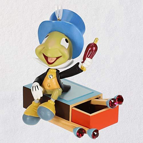 Hallmark Keepsake Christmas 2019 Year Dated Disney Pinocchio Jiminy Cricket Give a Little Whistle Ornament, Metal