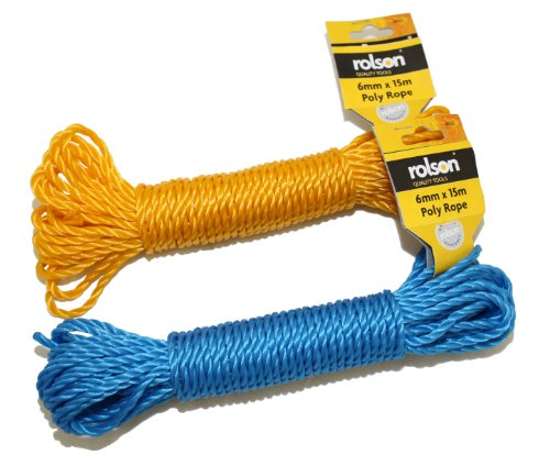 Rolson 44262 Poly Rope, 15 m x 6 mm