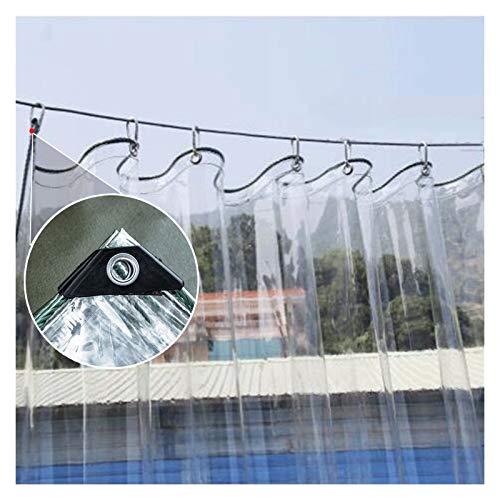 MAHFEI Lonas Impermeables Exterior, con Ojales Toldos PVC Transparente Cubierta De Invernadero Resistencia Al Desgarro Cortina De Partición Resistencia Al Clima Cortinas