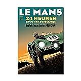 Zhengnengliang 24 Horas de Le Mans póster Original Impreso en Lienzo Arte de Pared Cuadro de Pintura para Sala de Estar decoración del hogar 50x70cm J-1312