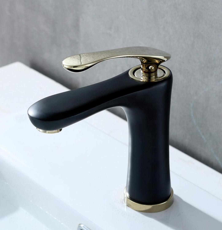 Hiwenr Bad Wasserhahn Mischbatterie Waschbecken Wasserfall Waschbecken Wasserhahn Messing Heies Und Kaltes Wasser Waschbecken Wasserhhne Schwarz