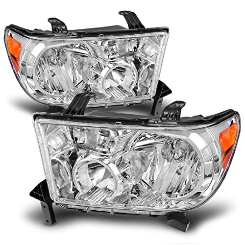 Driver and Passenger Side DWVO Headlight Aseembly Compatible with 2005-2009 Ford Mustang Black Housing Clear Lens